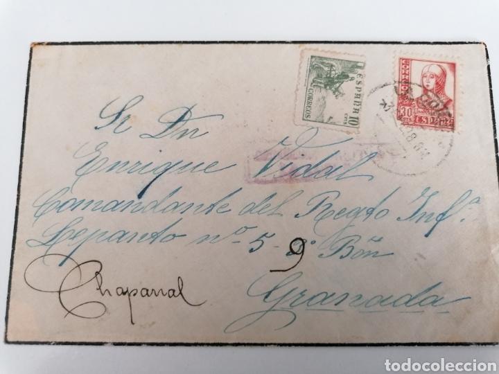 LA CORUÑA A CHAPARRAL GRANADA. REGIMIENTO INFANTERIA LEPANTO 5. 9º BATALLÓN. 1938. CENSURA (Sellos - España - Guerra Civil - De 1.936 a 1.939 - Cartas)