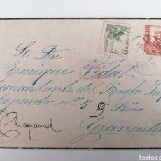 Sellos: LA CORUÑA A CHAPARRAL GRANADA. REGIMIENTO INFANTERIA LEPANTO 5. 9º BATALLÓN. 1938. CENSURA. Lote 244931670