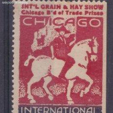 Sellos: SS11- VIÑETA INTERNATIONAL LIVE STOCK EXPO CHICAGO** SIN FIJASELLOS 51 X 31 MM. Lote 244989000