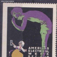 Sellos: SS11- VIÑETA AMERICAS ELECTRICAL VEEK 1916 . SIN GOMA . 58 X 45 MM. Lote 244989770