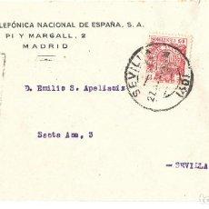 Sellos: 1937 CARTA GUERRA CIVIL SEVILLA. CENSURA MILITAR. FRANQUEO 15C ESPECIAL MÓVIL. Lote 245070060
