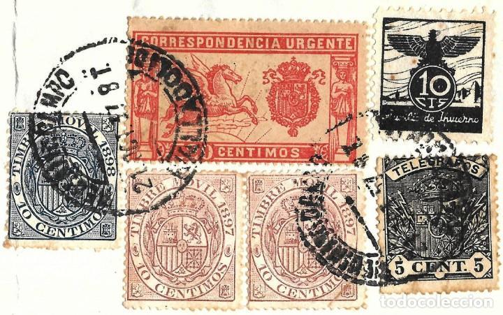 Sellos: 1937 CARTA FRONTAL GUERRA CIVIL MEDINA DEL CAMPO VALLADOLID CENSURA MILITAR ESPECIAL MÓVIL AUXILIO - Foto 2 - 245074980