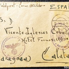 Sellos: GUERRA CIVIL CARTA FELDPOST DIVISIÓN AZUL MINISTERIO DEL EJERCITO. Lote 245231075