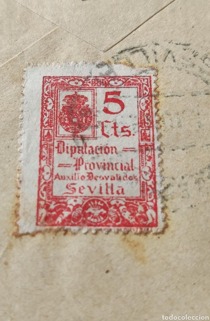 Sellos: Guerra civil carta con viñeta diputación provincial auxilio desvalidos Sevilla 1939 - Foto 4 - 245295065