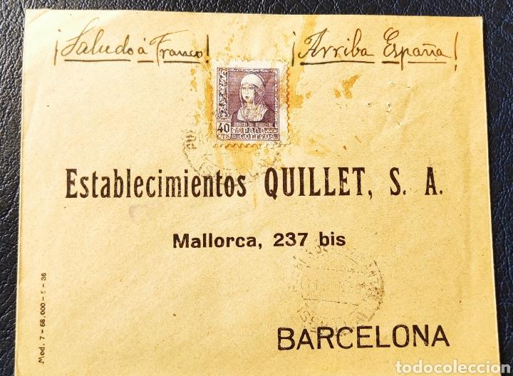 GUERRA CIVIL CARTA CON VIÑETA DIPUTACIÓN PROVINCIAL AUXILIO DESVALIDOS SEVILLA 1939 (Sellos - España - Guerra Civil - Viñetas - Nuevos)