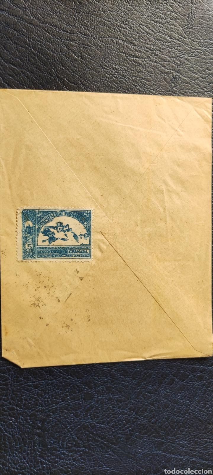 Sellos: Guerra civil carta con viñeta diputación provincial beneficencia granada 1939 - Foto 2 - 245295405