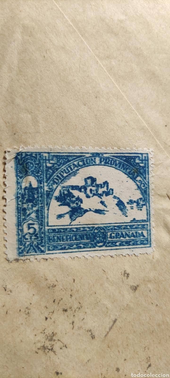 Sellos: Guerra civil carta con viñeta diputación provincial beneficencia granada 1939 - Foto 3 - 245295405