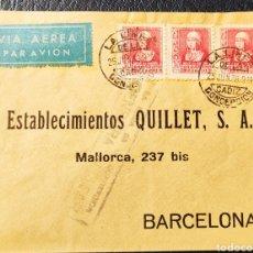Sellos: GUERRA CIVIL CARTA CON VIÑETA DIPUTACIÓN PROVINCIAL CADIZ BENEFICENCIA 1939. Lote 245295980