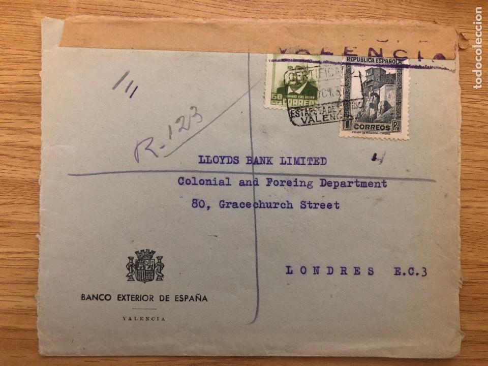 Sellos: Viñeta Banco exterior de España 1937 Valencia - Foto 2 - 245426935