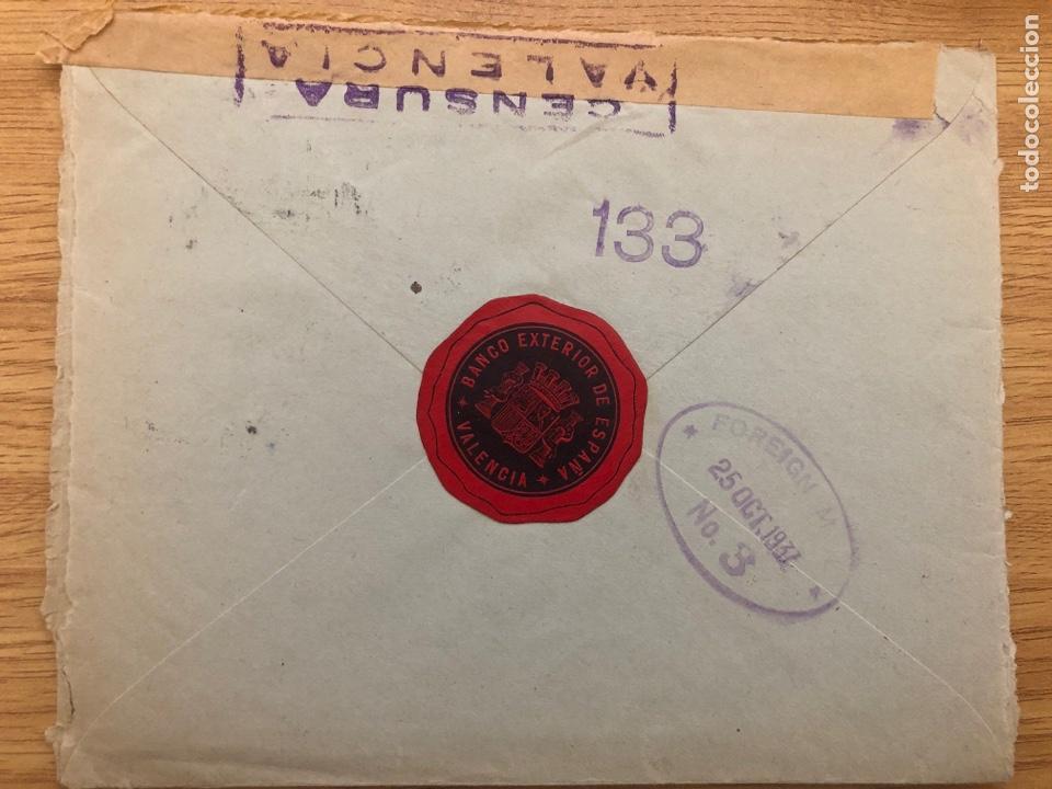 VIÑETA BANCO EXTERIOR DE ESPAÑA 1937 VALENCIA (Sellos - España - Guerra Civil - Viñetas - Usados)