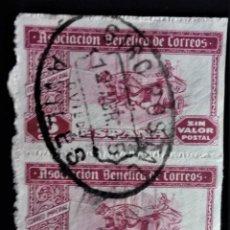Sellos: BENEFICENCIA CORREOS GIRO POSTAL AVILES ASTURIAS. Lote 245449500