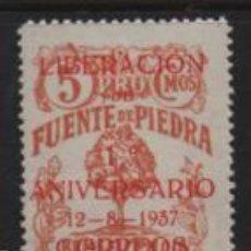 Sellos: FUENTE PIEDRA, 5 CTS,- BENEFICENCIA,- VER FOTO. Lote 245519100