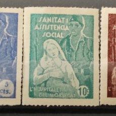 Sellos: GUERRA CIVIL 3 VIÑETAS SANITAT ASISTENCIA SOCIAL LLOBREGAT. Lote 245591555