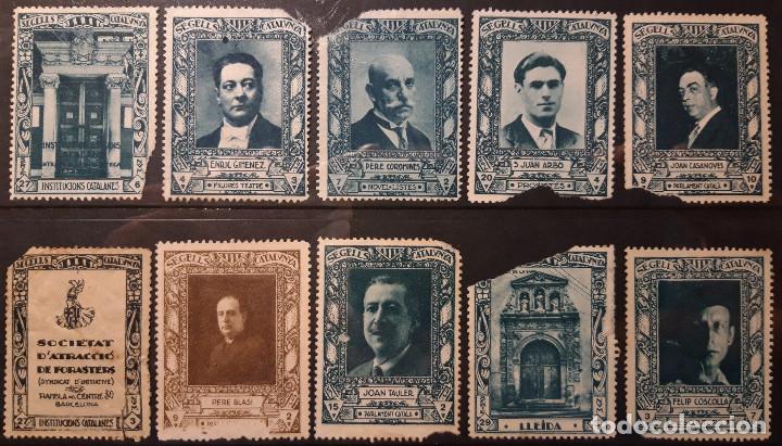 1933. SEGELLS CATALUNYA. LOTE COMPUESTO POR 10 DISTINTOS SELLOS CON DEFECTOS. (Sellos - España - Guerra Civil - Viñetas - Nuevos)