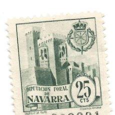 Sellos: DIPUTACIÓN FORAL DE NAVARRA. 25CTS SELLO MUNICIPAL.. Lote 246009660
