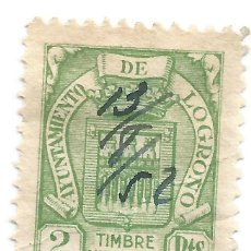 Sellos: TIMBRE MUNICIPAL. AYUNTAMIENTO DE LOGROÑO. 2 PTS. SELLO MUNICIPAL.. Lote 246015260