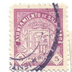 Sellos: AYUNTAMIENTO DE SALAMANCA 5 PESETAS. SELLO MUNICIPAL.. Lote 246015470