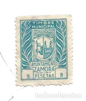 TIMBRE MUNICIPAL. AYUNTAMIENTO DE ZAMORA 3 PESETAS. SELLO MUNICIPAL. (Sellos - España - Guerra Civil - Locales - Usados)