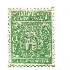 Sellos: AYUNTAMIENO DE SANTA AMALIA 1 PTA. SELLO MUNICIPAL. Lote 246018005