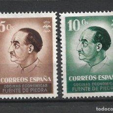 Sellos: ESPAÑA GUERRA CIVIL FUENTE DE PIEDRA NUEVOS SIN GOMA - 1/8. Lote 246044800