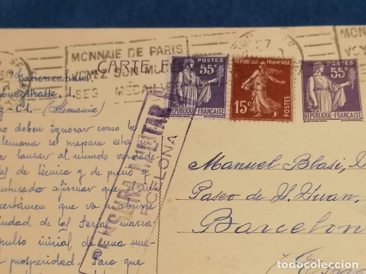 Sellos: España Guerra Civil Carta Censura Militar Francia Barcelona 22 De Febrero 1939 - Foto 3 - 246113760