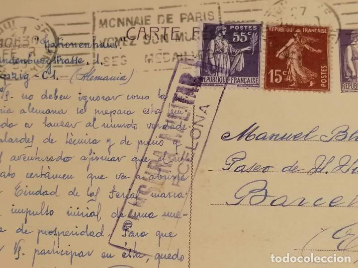 Sellos: España Guerra Civil Carta Censura Militar Francia Barcelona 22 De Febrero 1939 - Foto 4 - 246113760