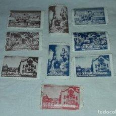 Selos: 9 VIÑETAS PRO-CENTENARIO IGNACIANO SANTA CUERVA DE MANRESA SIN CIRCULAR. Lote 246186040