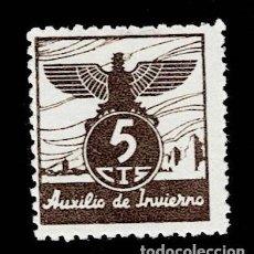 Sellos: CL8-4 GUERRA CIVIL AUXILIO DE INVIERNO GALVEZ Nº 5A VALOR 5 CTS. COLOR CASTAÑO SIN FIJASELLOS.. Lote 246269455
