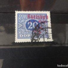 Sellos: KARLSBAD 1 X 1938 SUDETELAND SOBRECARGA ROJA SEGUNDA GUERRA MUNDIAL WWII. Lote 246590215