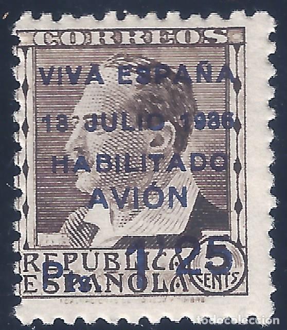 CANARIAS. EDIFIL 3. 1936. SELLO REPUBLICANO HABILITADO CORREO AÉREO. VALOR CAT. ESP.: 45 €. MNH ** (Sellos - España - Guerra Civil - Locales - Nuevos)