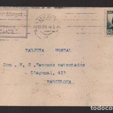 Sellos: POSTAL.-PRIVADA- CIRCULADA DE ALICANTE A BARCELONA, BANDERA REPUBLICANA,- VER FOTOS.. Lote 247506095