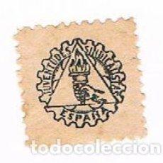Sellos: VIÑETA JUVENTUDES SINDICALISTAS DE ESPAÑA 1938 - GUERRA CIVIL. Lote 248489105