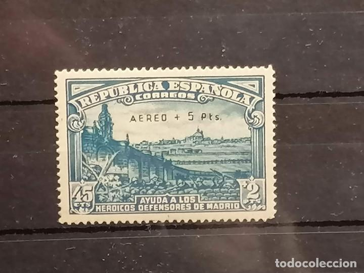 ESPAÑA GUERRA CIVIL DEFENSA DE MADRID EDIFIL 759 NUEVO * CATALOGO 450€ (Sellos - España - Guerra Civil - De 1.936 a 1.939 - Nuevos)