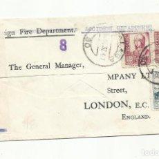 Sellos: CIRCULADA 1937 DE MALAGA A LONDON INGLATERRA CON SELLO LOCAL Y CENSURA MILITAR. Lote 252279265