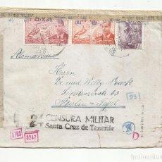 Sellos: CIRCULADA 1943 DE SANTA CRUZ DE TENERIFE A BERLIN ALEMANIA CON CENSURA MILITAR. Lote 252322460
