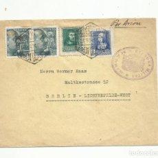Sellos: CIRCULADA 1939 DE MADRID A BERLIN ALEMANIA CON CENSURA MILITAR. Lote 252322950