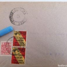 Sellos: GRANADA. CENSURA MILITAR, 2 BENEFICOS, BONITO CONJUNTO. 1937. Lote 252414620