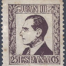 Francobolli: JUAN III. DON JUAN DE BORBÓN. MH *. Lote 252920035