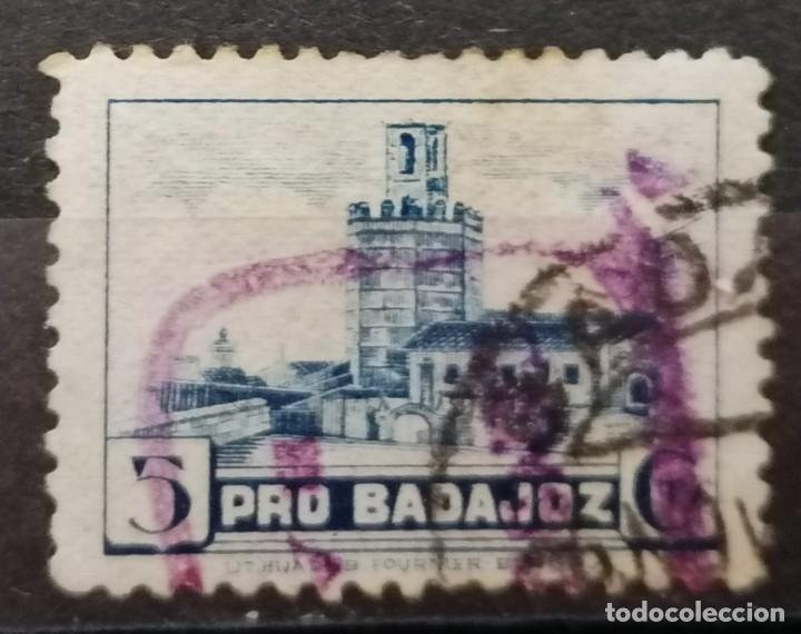 1936.PRO BADAJOZ, *.MH (21-346) (Sellos - España - Guerra Civil - Locales - Usados)