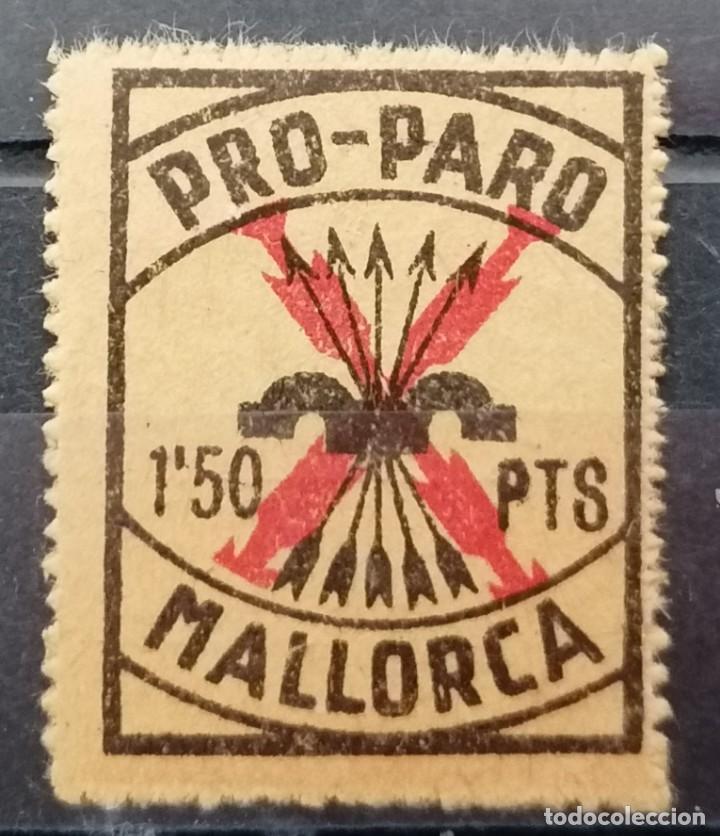 1936.MALLORCA. PRO PARO. A,5O PTS, **.MNH (21-341) (Sellos - España - Guerra Civil - Locales - Usados)