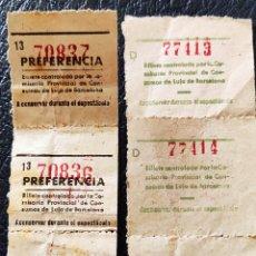 Francobolli: GUERRA CIVIL 6 BILLETES CONSUMO DE LUJO BARCELONA. Lote 253324125