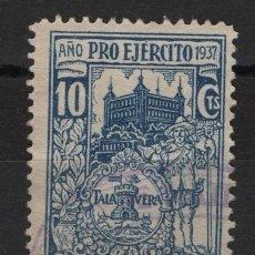 Sellos: TV_003/ AÑO PRO EJERCITO 1937 - TALAVERA, GUERRA CIVIL. Lote 253487740