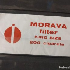 Sellos: MORAVA CIGARRILLOS CON FILTRO TABACO.. Lote 253565410