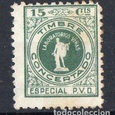 Sellos: FISCALES. TIMBRE A METÁLICO 15 CTS LABORATORIAS VIÑAS BARCELONA. Lote 253780615