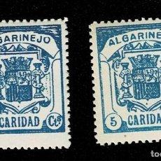 Sellos: G- GUERRA CIVIL ALGARINEJO PAPEL BLANCO FESOFI Nº 4 (2) COLOR AZUL OSCURO Y AZUL BLANCO SIN FIJASELL. Lote 253817935