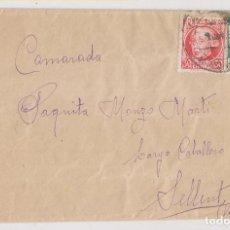 Francobolli: SOBRE. SOLDADO DE VALLECAS. A UNA CAMARADA DE SELLENT, VALENCIA. 1937. Lote 253912600
