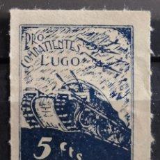 Sellos: LUGO GUERRA CIVIL. PRO COMBATIENTES 5 CTS. NUEVO.. Lote 254049805