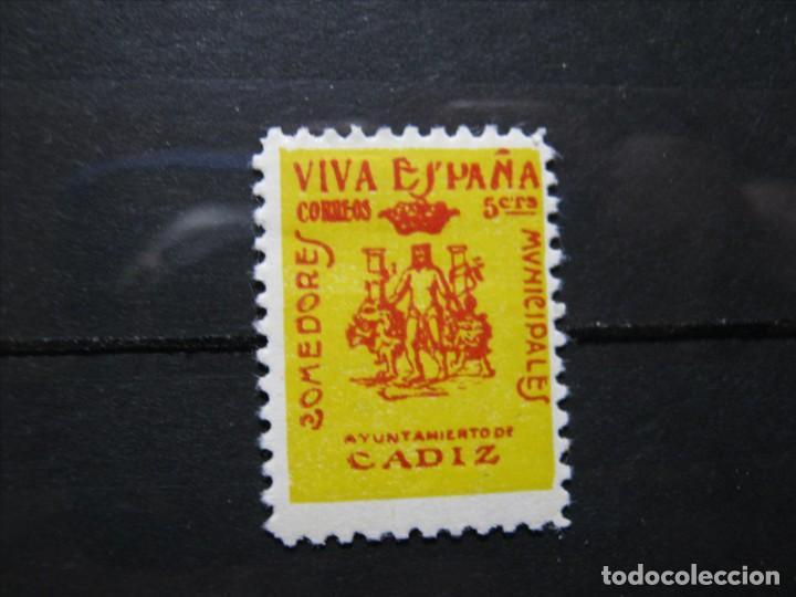CADIZ COMEDORES MUNICIPALES 5 CTS. SELLO NUEVO * EXCELENTE CALIDAD!!! (Sellos - España - Guerra Civil - Locales - Nuevos)