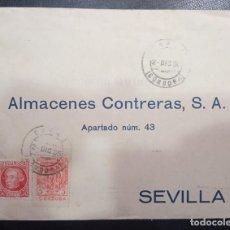 Sellos: 1936.- CABRA (CÓRDOBA) A SEVILLA. Lote 254412295