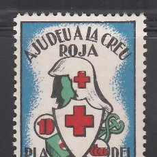 Sellos: AJUDEU A LA CREU ROJA, PLA DE BESOS. BARCELONA. 10 C. (AL.1). Lote 254734045
